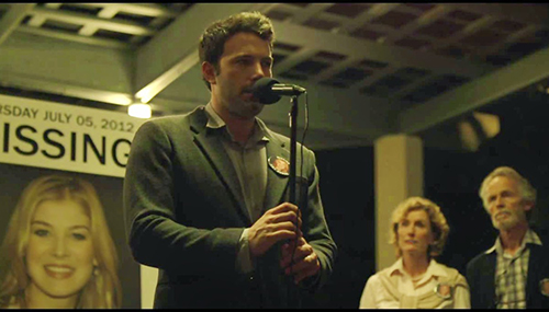 "Photo courtesy of northparktheater.org Ben Affleck stars in ""Gone Girl,"" a mystery novel turned motion picture that was released in theaters Oct. 3."