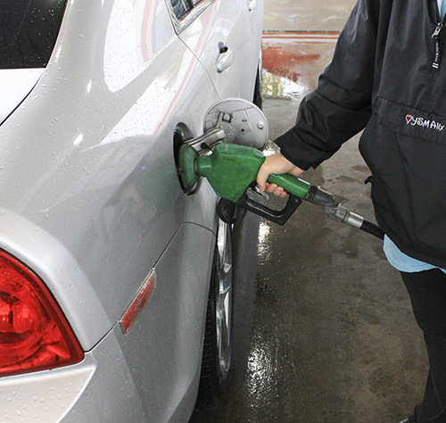 Kalli Bubb/The News Gas prices lower as the price of crude oil drops.
