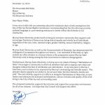 Davies' letter
