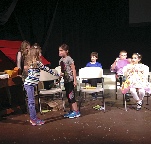 Taylor Inman/The News Children rehearse for Playhouse in the Park's upcoming holiday production.