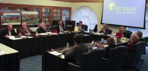 The Board of Regents and President Bob Davies debate new changes to campus at the Dec. 4 meeting.