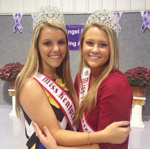 Photo contributed by Natalie Lawerence Students Natalie Lawerence, junior from Wickliffe, Ky., and Shelby Beloate, sophomore from Pureyar Tenn., serve as National American Miss Teen Kentucky and National Miss Tenneessee for the 2014-2015 year.