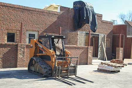 Haley Hays/The News Tap 216, the new bar replacing The Olive, is still undergoing construction.