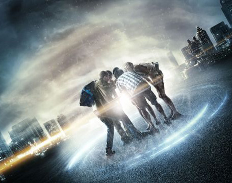 "Photo courtesy of io9.com Four teens discover how to travel through time, but experience difficulties in ""Project Almanac."" The film stars Jonny Weston, Sofia Black-D'Elia, Allen Evangelista and Sam Lerner."