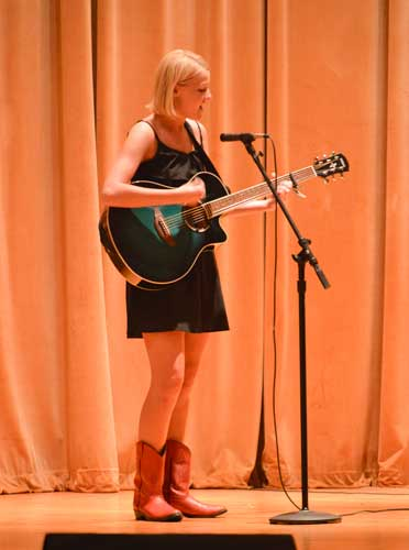 Hannah Fowl/The News  Kelsey McIlroy won first place at Murray's Got Talent.