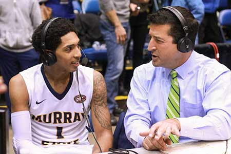 Jenny Rohl/The News Sophomore point guard Cameron Payne is interviewed on-air after beating Morehead State 80-77 March 6 at Municipal Auditorium in Nashville, Tenn.