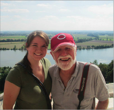 Photo courtesy of Bekah Russell John Griffin and Bekah Russell, alumna of the Regensburg 2013 program, stand overlooking the German countryside.