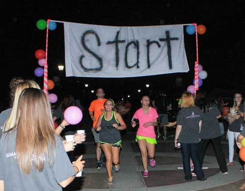 Kalli Bubb/The News Sigma Sigma Sigma held its annual Glow Run 5K Saturday.