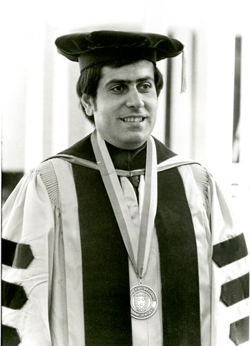 Courtesy of Pogue Archives Former President Constantine Curris' investiture was held in 1973 and he became the youngest university president in Kentucky history.