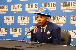 Mallory Tucker/The News Cameron Payne addressed the media for the first time as a member of the Oklahoma City Thunder.