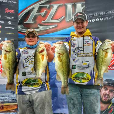 Photo provided Members of the Bass Angler's team competing in the FLW College Open on Kentucky Lake in March.