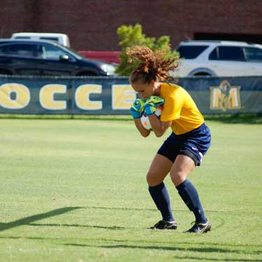 Zachary Maley/The News During practice, the soccer team practices catching the ball. The Racers take on Louisiana Tech at 3 p.m. on Friday, Sept. 11 at Cutchin Field.