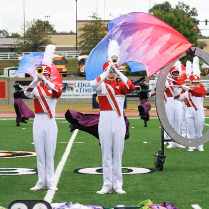 Kalli Bubb/The News Murray High's Tiger Band received the highest overall marks and beat out the Calloway County Laker Band by half a point.