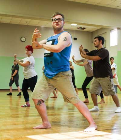 Nicole Ely/The News Classes are open to any student looking for exercise and willing to learn.