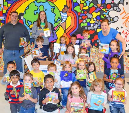 Contributed photo Phi Kappa Phi donated more than 200 books for local elementary school students during last semester's book drive.