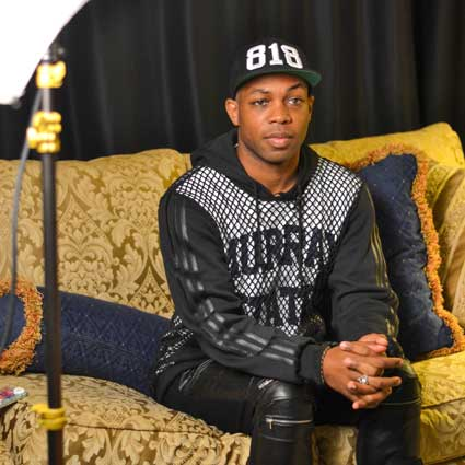 Chalice Keith/The News Todrick Hall giving a backstage interview during his time here in Murray.