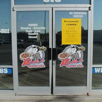 Jenny Rohl/The News Nick's Family Sports Pub closed its doors for good Monday morning after 13 years of business.