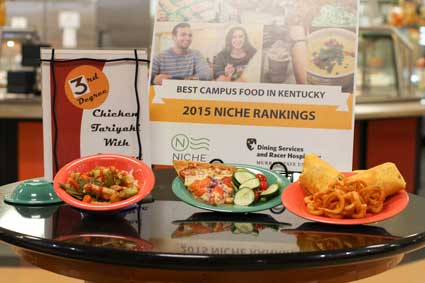 Nicole Ely/The News Winslow Dining Hall and Thoroughbred Room are making extra efforts to reduce the amount of food wasted.