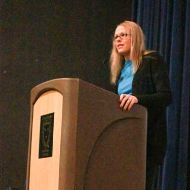 Jenny RohlThe News Jody Cofer Randall speaks at the Come Together Kentucky conference, held last weekend.