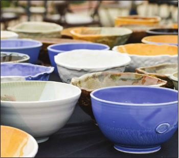 "Emily Harris/The News Supporters of Murray Art Guild's ""Empty Bowl's Event"" handcrafted soup bowls for $15 each."
