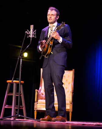 Photo courtesy of Dana Howard Chris Thile, Murray State alum, took to the stage for a night of music last Thursday.