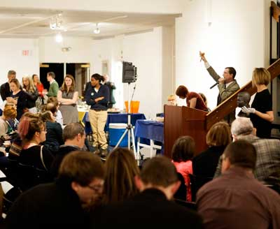 Zachary Maley/The News Department of Art & Design raises more than $9,000 for student scholarships.