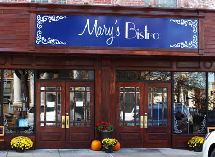 Nicole Ely/The News After moving downtown earlier this year, Mary's Bistro has closed its doors.