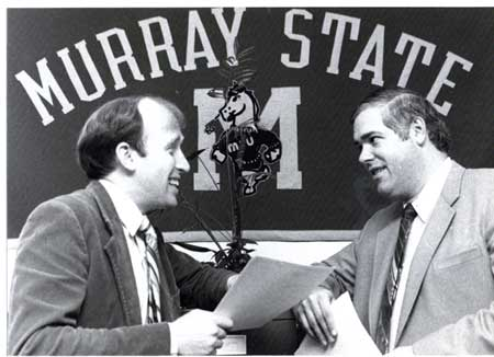 File photo Professor Bob Valentine and Bob McGaughey have worked together for years at Murray State.
