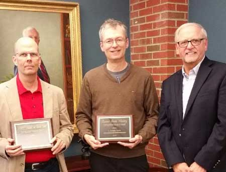 "Photo contributed by Murray State Public Relations Axtell, Tervo and Smith were given the Distinguished Research Award in October for their work on ""The Advent of Accounting: A Historical Analysis."""