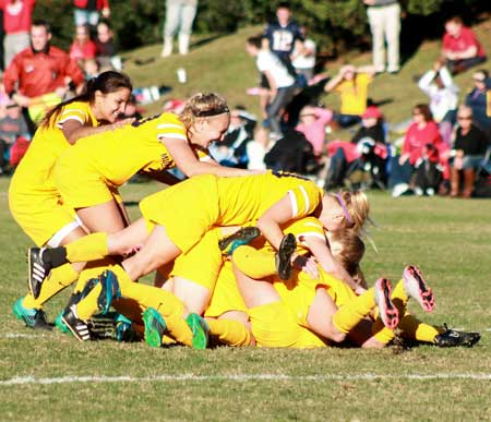 Jenny Rohl/The News SCORING BIG: There's no denying the success of Murray State's soccer team this season. While the Racers lost in the NCAA Tournament to Ole Miss in November, Murray State finished the season 16-5, the best record in program history. Additionally, the team maintained the longest win streak record with 11 wins.