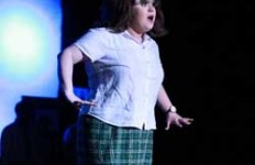 "Jenny Rohl/The News Emily Duff plays Tracy Turnblad, the lead of this year's Campus Lights show, ""Hairspray."""