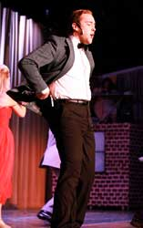 Jenny Rohl/The News Kevin Brost dances on the Corny Collins during Sunday's performance, which began at 2:30 p.m.