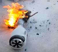 Photo courtesy of nbcnews.com The dangers of hoverboards have become apparent after several explosive incidents.