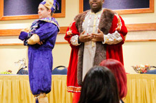 McKenna Dosier/The News Students tested their theatrical ability with a medieval flair.