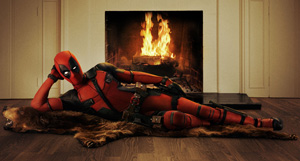 Photo courtesy of www.foxmovies.com Ryan Reynolds lounges in red spandex as the new Marvel anti-hero, Deadpool.