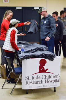 Emily Harris/The News Eventgoers bought shirts and other items in order to raise money for St. Jude Children's Hospital.