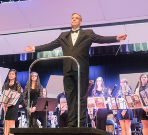 Nahiomy Gallardo/The News Conductor Timothy Rhea leads the Symphony Band during this last weekend's festivities.
