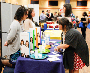 McKenna Dosier/The News CAREER FAIR: The STEM Career Fair hosted 42 employees to connect with students within that field of study.