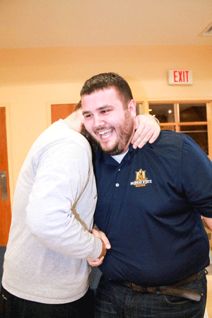 Jenny Rohl/The News SGA ELECTIONS: Clint Combs and Nathan Payne won president and vice president for the second year in a row. This image is from their first win in April 2015.