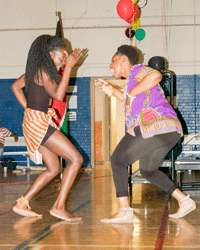 Photo courtesy of Emma Franklin Students and faculty members were welcome to embrace both traditional and modern dance.