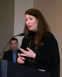 Nahiomy Gallardo/The News Secretary of State Alison Grimes visited Murray State on April 7 to promote the new online voter registration system.