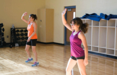 Nahiomy Gallardo/The News The popular Zumba class is available in the Carr Health Building and Wellness Center for free.