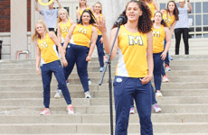 Nicole Ely/The News Murray State track team rallies to compete in All Campus Sing