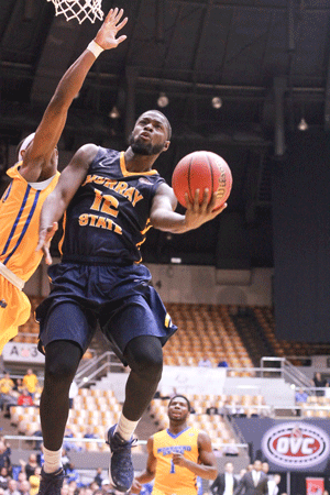 Jenny Rohl/The News OVC: Men's basketball lost to Morehead State in the quarterfinals of the OVC Tournament.