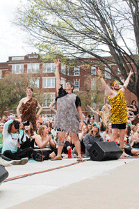 """McKenna Dosier/The News The champions of the fraternity division in full """"jungle"""" garb."""
