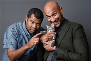 Photo courtesy of donthatethegeek.com Promotional poster for 'Keanu' shows off the kitten's softer side.