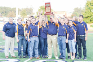 The Murray State rifle team was honored for its OVC Championship before the Racer football game against Southeast Missouri State on Sept. 24. Chalice Keith/The News