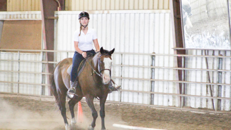 Kat Lyons tries out for the Murray State dressage team.