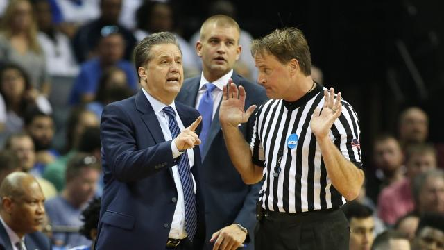 NCAA referee John Higgins faced online harassment from Kentucky fans following refereeing the Wildcat's Elite Eight game.